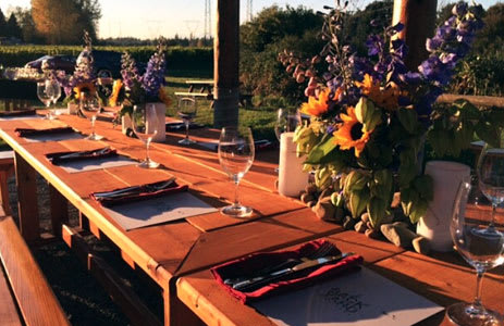 Private Events at Backyard Vineyards in Langley, BC